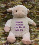 PERSONALISED CUBBIES TEDDY - Lambie - Teddy Bear lamb